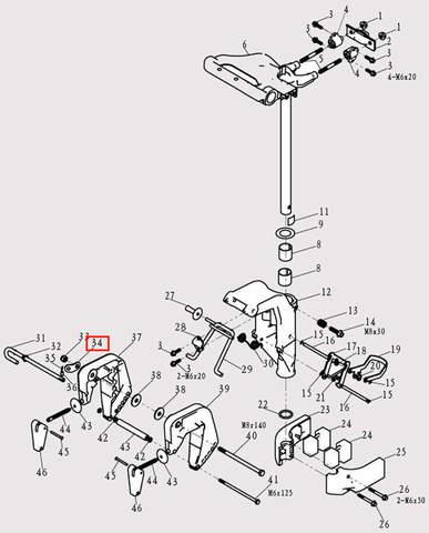 Скоба для лодочного мотора F9.8 Sea-PRO (13-34)