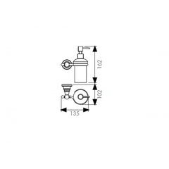 Дозатор для жидкого мыла настенный Kaiser Arno KH-2210 схема