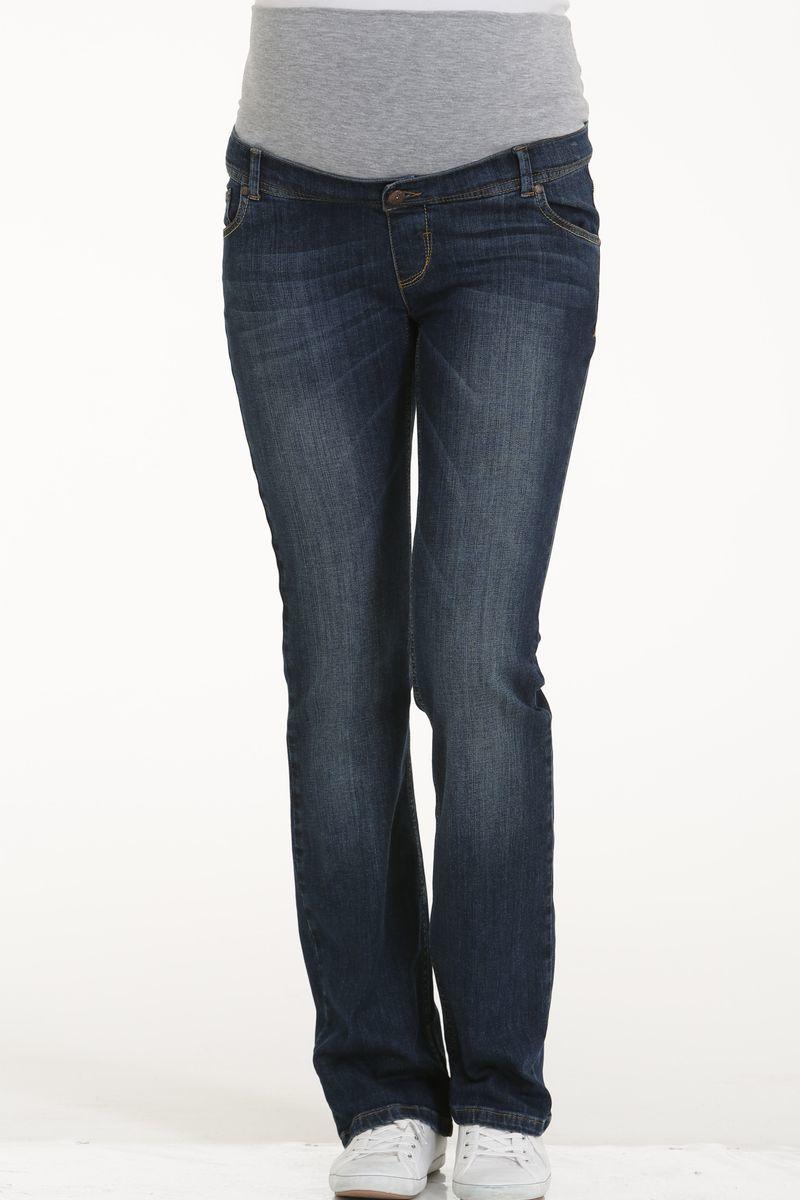 Фото джинсы для беременных GEBE, прямые, широкий бандаж, легкая потертость от магазина СкороМама, синий, размеры.