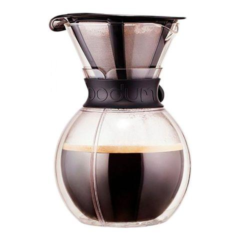 Кофейник кемекс Bodum Pour Over с двойными стенками и многоразовым сито-фильтром, 1 л, цвет черный