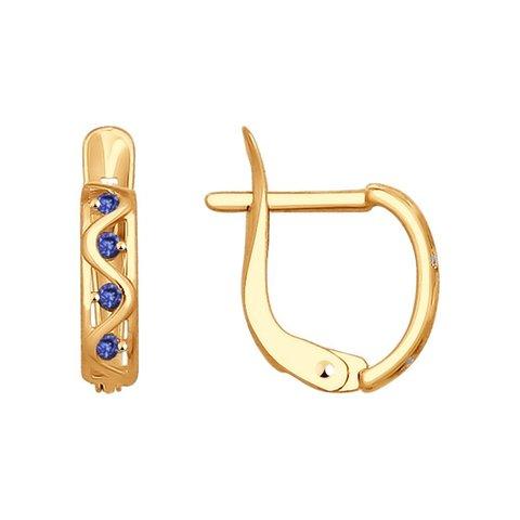 027905 - Серьги из золота с фианитами