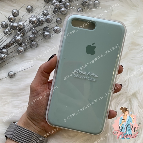 Чехол iPhone 7+/8+ Silicone Case /mint/ мята 1:1