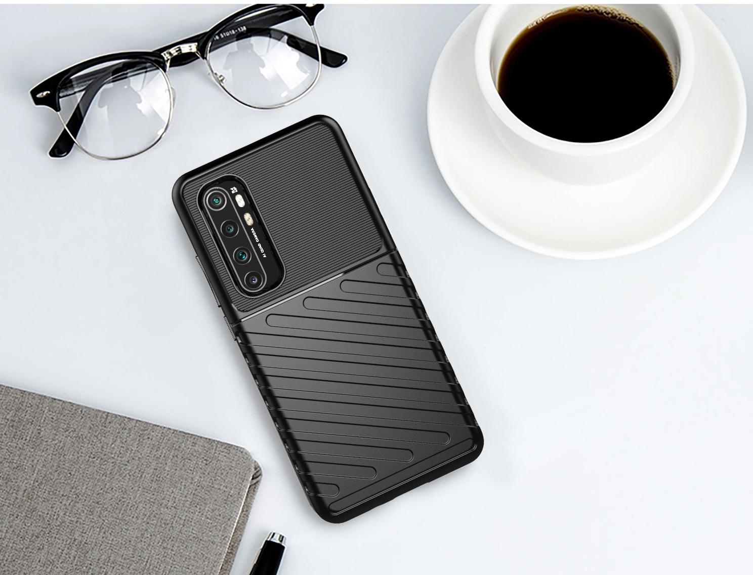 Противоударный чехол на Xiaomi Mi Note 10 Lite, черный цвет, серии Onyx от Caseport