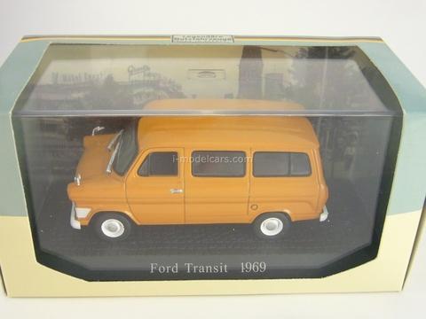 Ford Transit 1969 orange Atlas 1:43