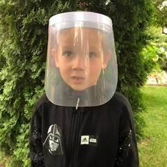 Защитный экран для лица детский Plastic Shield