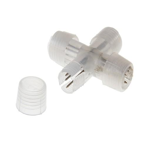 Коннектор Х-образный для дюралайта, 11 мм, 3W