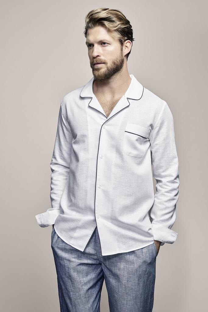 Льняной мужской домашний костюм Zimmerli