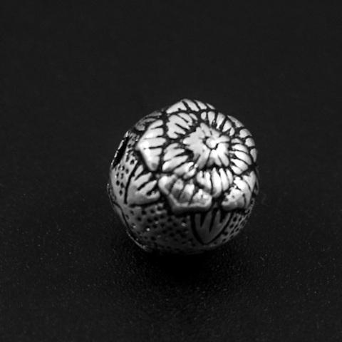 Бусина Макао 10 мм серебро 925