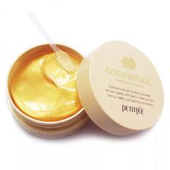 Petitfee Gold Snail Hydrogel Eye Patch - Гидрогелевые патчи для кожи вокруг глаз с золотом и экстрактом улитки