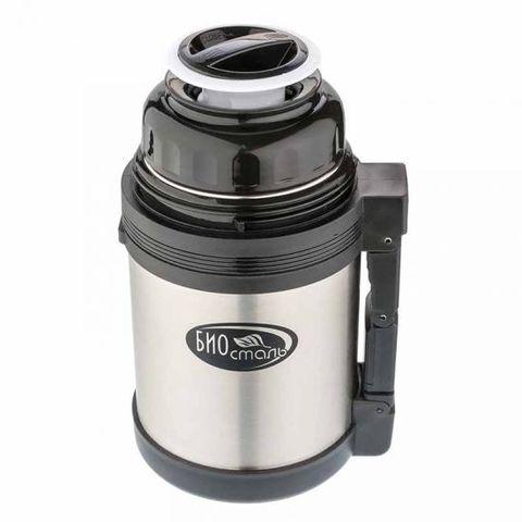 Термос универсальный (для еды и напитков) Biostal (0,8 литра), стальной