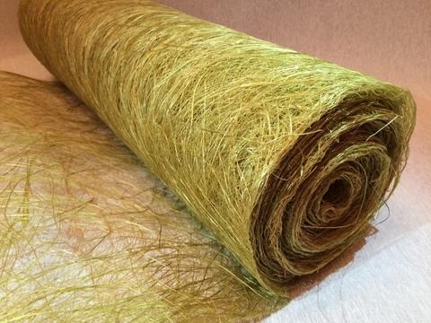 Сизалевое полотно, размер 50см х 9м Цвет: зеленый светлый