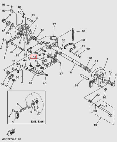Замок наклона для лодочного мотора Т30 Sea-PRO (14-39)