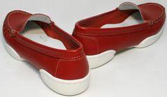 Женские красные мокасины под платье Evromoda 042.5710 WRed.