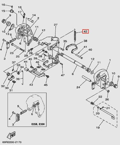 Пружина для лодочного мотора Т30 Sea-PRO (14-42)