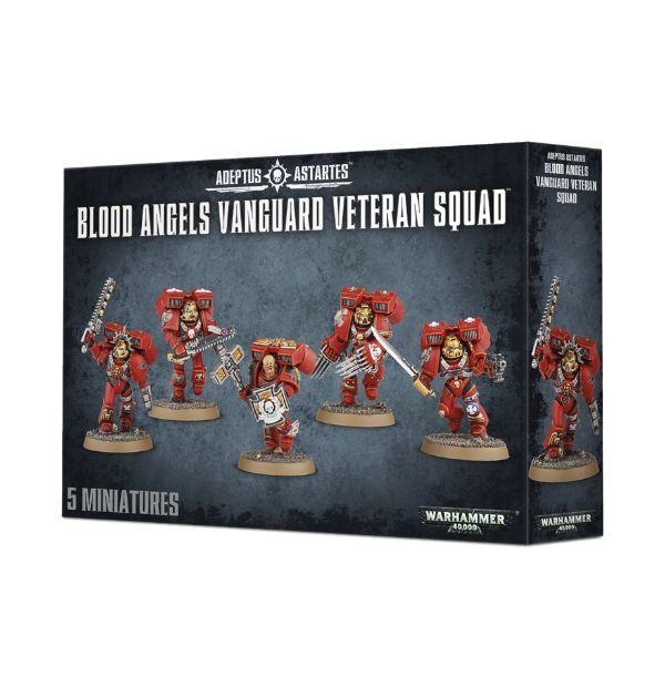 Blood Angels Vanguard Veteran Squad. Коробка