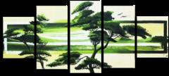 "Модульная картина ""Зеленая Африка"""