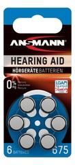 Батарейка ANSMANN для слуховых аппаратов