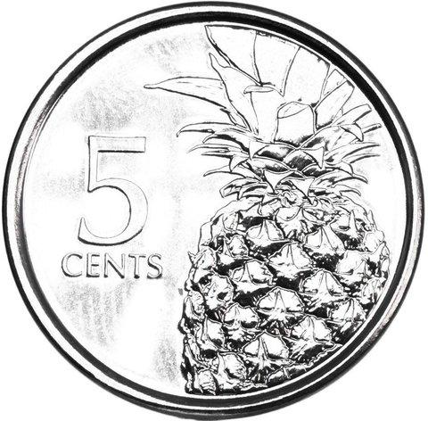 5 центов. Багамы. 2015 год. UNC