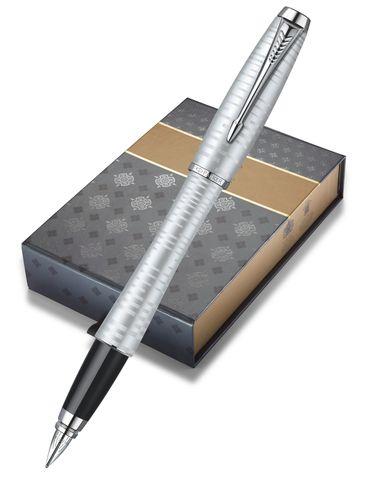 Подарочный набор: Чехол и Перьевая ручка Parker Urban Premium Silver -Blue