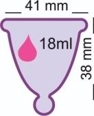 Менструальная чаша MeLuna Shorty Classic (размер М)