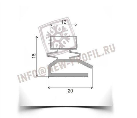 Уплотнитель 112*56,5 см  для холодильника Бирюса 320 (холодильная камера) Профиль 013