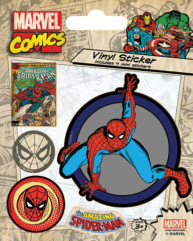 Набор стикеров Marvel Comics (Spider-Man Retro)