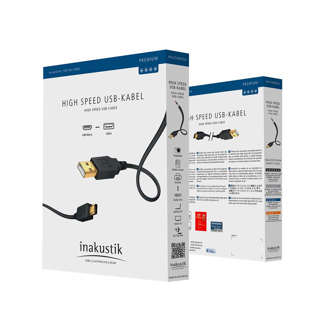 Inakustik Premium High Speed USB 2.0, 1 m, 01070001