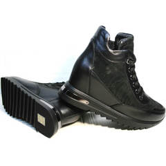 Женские кроссовки сникерсы Evromoda 965 Black