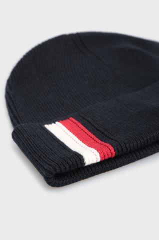 Мужская темно-синяя шапка CORPORATE PIMA BEANIE Tommy Hilfiger