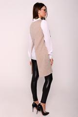 Модный удлиненный жилет свободного силуэта. (Длина во всех размерах:  91 см)