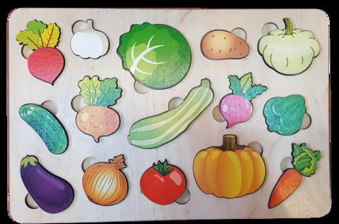 Развивающая доска Овощи (большая), Нескучные игры