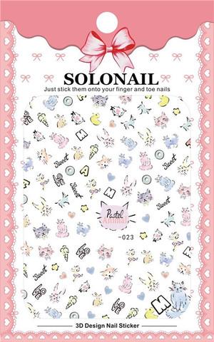 Наклейка силиконовая SOLO-23