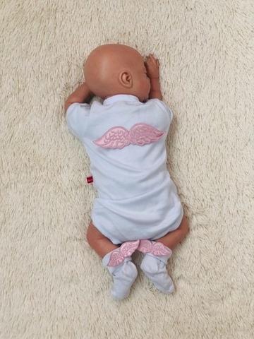 Нарядный комплект боди и носочки Ангел (розовый)