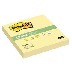 Стикеры Post-it Optima 654-OY, 76х76 желтый, 100 л.