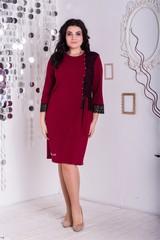 Франческа. Красивое платье больших размеров. Бордо