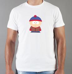 Футболка с принтом мультфильма Южный парк (South Park) белая 003