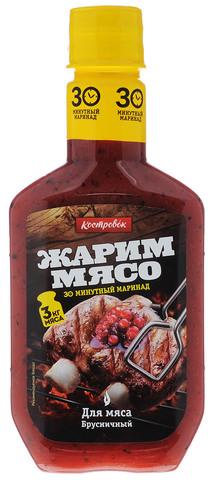 Маринад для мяса брусничный Костровок, 300г