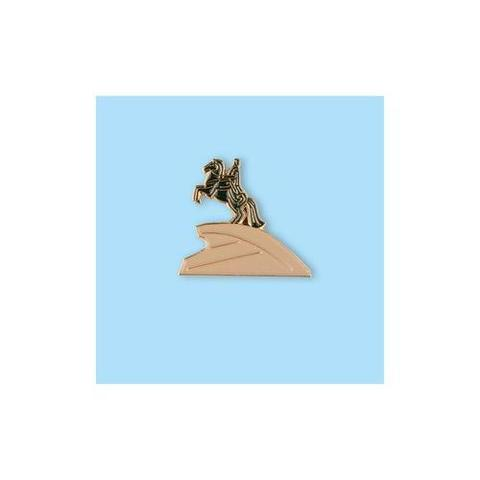 Значок металлический СПБ Медный всадник