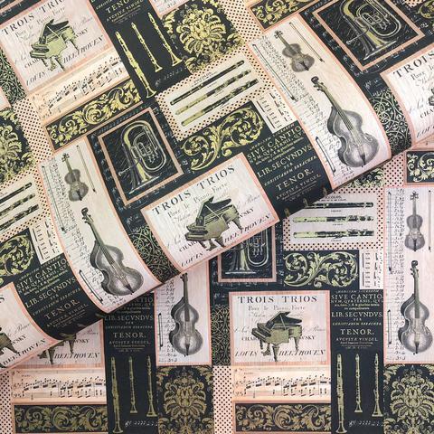 Бумага подарочная декоративная Музыкальные инструменты