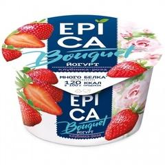 Йогурт «Epica Bouquet» клубника, роза 4,8% 130 г