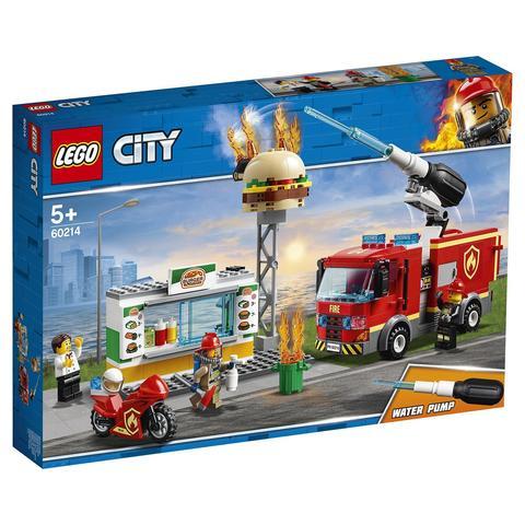 LEGO City: Пожар в бургер-кафе 60214 — Burger Bar Fire Rescue — Лего Сити Город