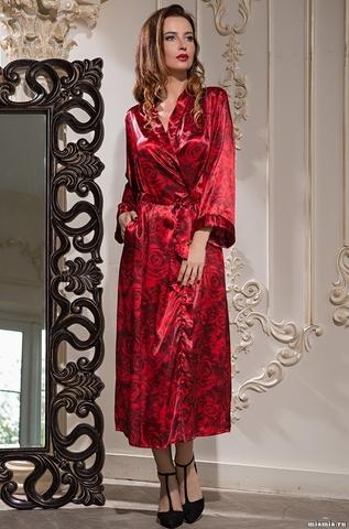 Длинный халат Mia-Amore 3169 CARMEN (70% шелк)