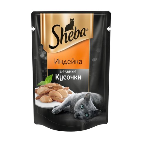 Sheba пауч взрослых кошек (индейка, кусочки) 80 г