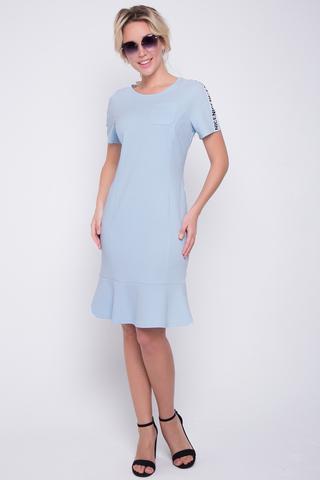 """<p>Стиль """"Casual"""" - динамичный стиль большого города. Практичный, простой и лаконичный стиль для девушек, предпочитающих удобство и функциональность в одежде. Платье из трикотажного полотна модного кроя с модными лампасами по рукавам. (Длины: 44-93см;46-94см;48-94см;50-95см;52-95см)&nbsp;</p>"""