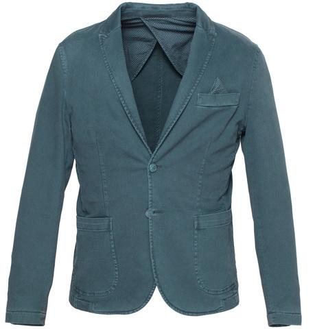 Тёмно-зелёный хлопковый пиджак