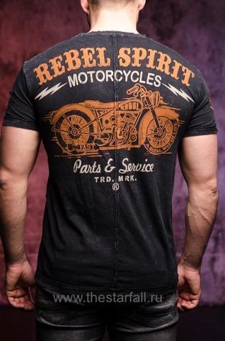 Футболка Rebel Spirit с мотоциклом