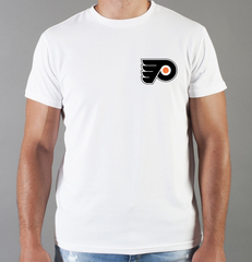 Футболка с принтом НХЛ Филадельфия Флайерз (NHL Philadelphia Flyers) белая 004