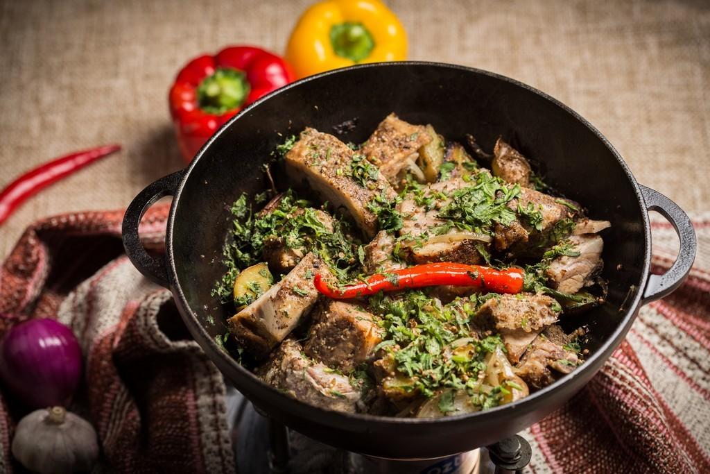 рецепты блюд в казане с фото верхнего слоя обеспечивает