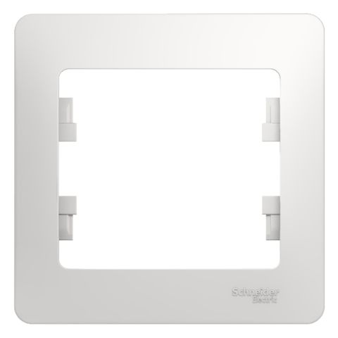 Рамка на 1 пост. Цвет Белый. Schneider Electric Glossa. GSL000101
