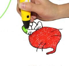 3D ручка Myriwell RP100A + 120 м пластика + трафареты